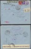Italien Auslands-Zensur-R-Brief Firenze 1943 Doppel-Zensur (45007)