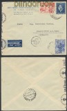 Griechenland Auslands-Zensur-LuPo-Brief 1940 Doppel-Zensur (44902)
