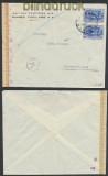 Griechenland Auslands-Zensur-Brief 1943 deutsche Zensur nach Frankfurt (44910)