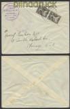 Griechenland Auslands-Zensur-Brief 1949 griechische Zensur in die USA (44913)