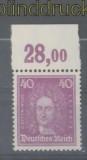 dt. Reich Mi # 395 Oberrand Plattendurck postfrisch (45366)