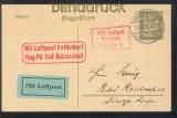 dt. Reich Flugpostkarte Braunschweig - Bad Reichenhall 1925 (45319)
