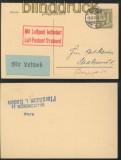 dt. Reich Flugpostkarte Stettin - Stralsund 1925 (45320)