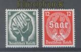 dt. Reich Mi # 544/45 Saarabstimmung postfrisch (45104)