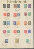all. Besetzung Mi # 911/37 komplett auf Vorlageblatt SSt. Bremen TdB 1947 (45446)