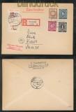 all. Besetzung I. Kontrollrat mit SBZ und Lokalausgaben R-Brief 1946 (45482)