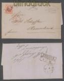 Niederlande Mi # 5 auf Auslandsbrief Amsterdam 1865 (45711)