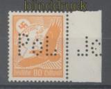 dt. Reich Mi # 536 x postfrisch vom Seitenrand mit POL-Lochung (45644)
